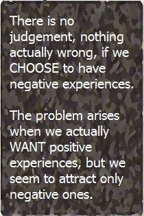 Choosing Negative Experiences