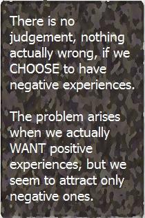 Choosing Negative Experiences