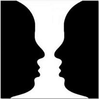 Optical Illusion vase face